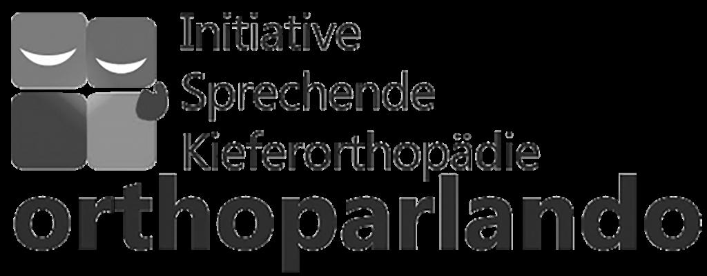 Negativlogo der Initiative für sprechende Kieferorthopädie